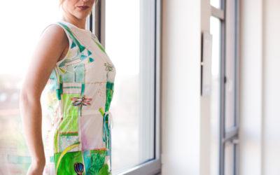 Šaty z hedvábí, dostupný luxus